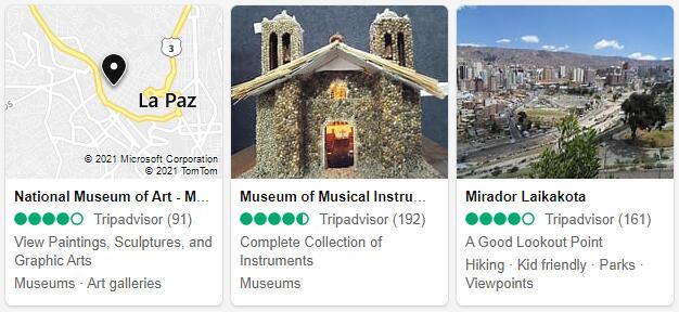 La Paz Attractions